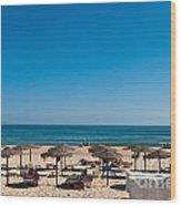 Manta Rota Beach Wood Print