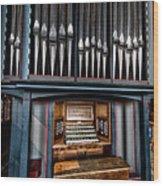 Manual Pipe Organ Wood Print