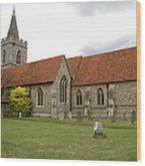 Manuden Church Wood Print
