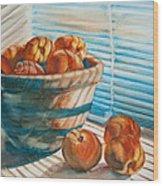 Many Blind Peaches Wood Print