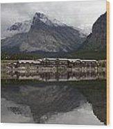 Many Glacier Reflection Wood Print
