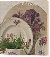Many Rose Designs Still Life  Wood Print