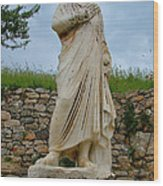 Many Sculptures Lost Their Heads In Ephesus-turkey Wood Print