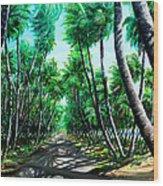 Manzanilla Coconut Estate Wood Print
