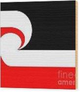 Maori Flag Wood Print