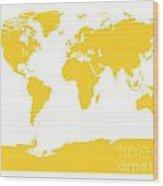 Map In Yellow Wood Print