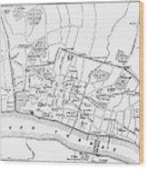 Map: London, 13th Century Wood Print