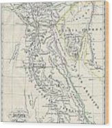 Map Of Ancient Egypt Wood Print