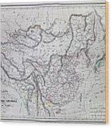 Map Of China And Japan Wood Print