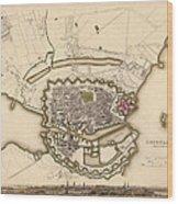 Map Of Copenhagen 1837 Wood Print