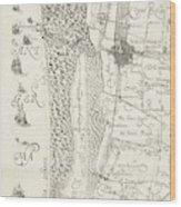Map Of Delfland Leaf Center Left The Netherlands Wood Print