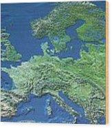Map Of Europe Wood Print