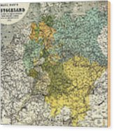 Map Of Germany 1861 Wood Print