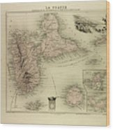 Map Of Guadeloupe St. Martin And St Wood Print