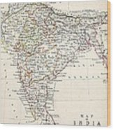 Map Of India Wood Print