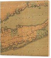 Map Of Long Island 1888 Wood Print
