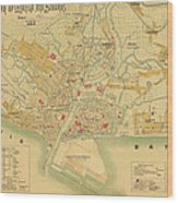 Map Of Manila 1899 Wood Print