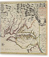 Map Of Maryland 1676 Wood Print