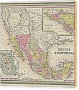 Map Of Mexico Wood Print by Gary Grayson