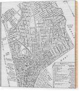 Map Of New York City, 1803 Wood Print