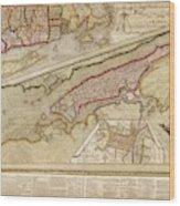 Map Of New York City Wood Print