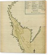 Map Of Philadelphia And The Delaware River 1780s Wood Print