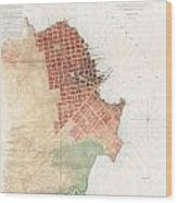 Map Of San Francisco California Wood Print