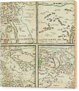 Map Of Spanish Holdings In North America 1769 Wood Print