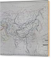 Map Of The Mongol Empire In Asia And Europe Wood Print