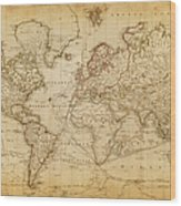 Map Of The World In 1800.Map Of The World 1800 Canvas Print Canvas Art By Thepalmer