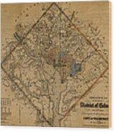 Map Of Washington 1862 Wood Print