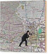 Map Overland Park Kansas Wood Print