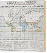 Map Sugar Trade Wood Print