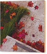 Maple Leaf Fall 3 - The Getty Wood Print