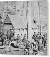Maple Sugar Party, C1900 Wood Print