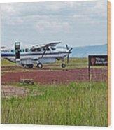 Mara Serena Air Strip Wood Print