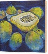 Maracuya/passion Fruit Wood Print
