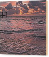 Marathon Key Sunrise Panoramic Wood Print by Adam Romanowicz