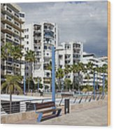 Marbella Apartment Buildings Wood Print