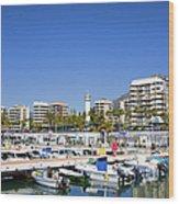Marbella Marina In Spain Wood Print