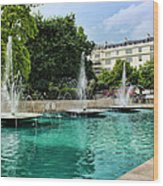 Marble Arch Fountains  Wood Print