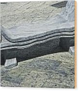 Abstract Marble Bench Wood Print