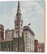 Marble Collegiate Church Holland House New York Wood Print