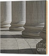 Marble Columns Of Thomas Jefferson Memorial Wood Print