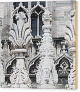 Marble Facade II Duomo Di Milano Italia Wood Print