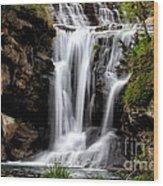 Marble Falls Waterfall 3 Wood Print