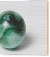 Marble Green Swirl 1 A Wood Print