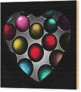Marble Heart Wood Print