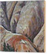 Marble Ridge Wood Print