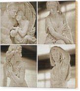 Marble Sculpture Wood Print